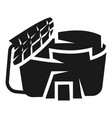 arena with a covered tribune icon simple style vector image vector image