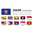 asean and membership association of southeast vector image vector image