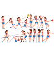 athletics girl player female athletic vector image vector image