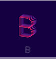 b letter building flat logo pink and violet vector image vector image