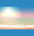 beautiful sea sunset vector image vector image
