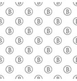 bitcoin sign pattern seamless vector image