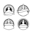 Black and white wedding stamps vector image vector image