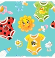 Bright seamless background of childrens clothes vector image vector image