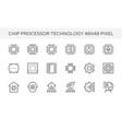 chip processor tecnology icon vector image
