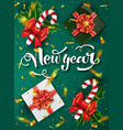 christmas green design template vector image vector image
