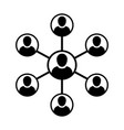 client icon male group of persons symbol avatar vector image