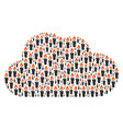cloud mosaic of candle icons vector image