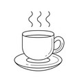 coffee cup line icon vector image