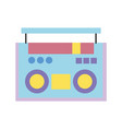 colorful radio object technology to listen music vector image vector image