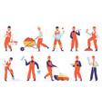 construction worker technician worker character vector image