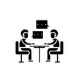 consulting black icon sign on isolated vector image vector image