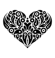Decorative heart tattoo vector image vector image