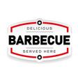 delicious barbecue vintage sign vector image vector image