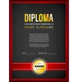 Diploma certificate design template vector image vector image