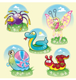 family funny animals vector image