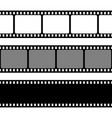 film strips collection old retro cinema strip vector image
