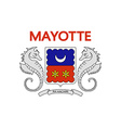 Flag of Mayotte vector image vector image