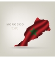 Flag of Morocco as a country vector image vector image
