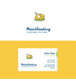 flat chicken meat logo and visiting card template vector image vector image