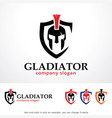 gladiator logo template design vector image