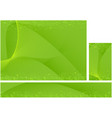 green dynamic hi-tech abstract background set vector image