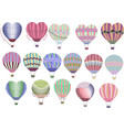 hot air balloons collection set colorful balloons vector image