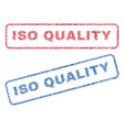 iso quality textile stamps vector image vector image