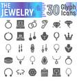 jewelry glyph icon set accessory symbols vector image vector image