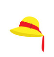 lady fashion hat design elegant women beach vector image