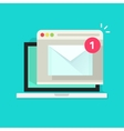 Laptop with browser and envelope vector image vector image