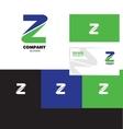 Letter Z logo green blue vector image vector image