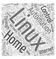 linux home automation Word Cloud Concept vector image vector image