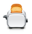 metallic toaster kitchen vector image vector image