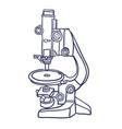 microscope icon hand drawn contour line vector image