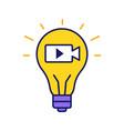 movie idea color icon vector image vector image