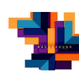 multicolored abstract geometric shapes geometry vector image vector image