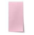 Pink rosy vertical sticky note isolated on white vector image vector image