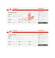 plane tickets to prague vector image vector image