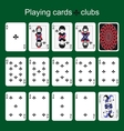 Playing cards Clubs vector image