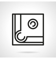 Pool table corner simple line icon vector image vector image