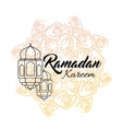 Ramadan kareem and Ramadane vector image vector image