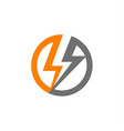 renewable sources energy lightning in circle vector image