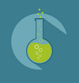 research chmical vial icon vector image