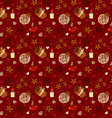 Seamless pattern of winter spices vector image vector image
