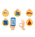 security icon smartphone application vector image
