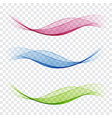 set abstract wave blue wave green wave vector image