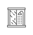 shower cabin bathroom furniture line icon vector image vector image