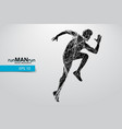 silhouette a running man vector image vector image