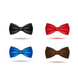 silk black bowtie in polka dots isolated vector image